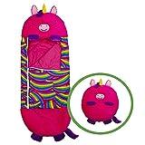 Bolso de dormir para niños Bolsa de dormir para niños Bolsa de dormir: gire su almohada divertida 2 en 1 en un saco de dormir para viajes y siestas al aire libre (Color : Red, Size : 135X50CM)
