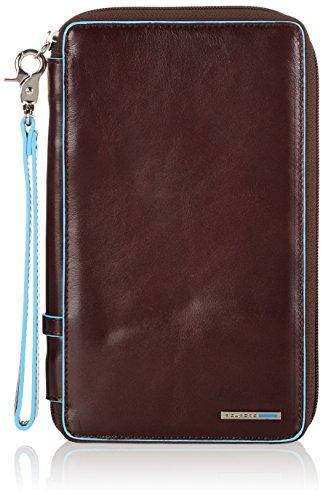 Piquadro PP3246B2/MO Blue Square Porta Documenti, Mogano, 22 cm