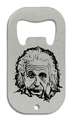 RaMedia Albert Einstein Scientist Genius Black Artwork Flaschenöffner