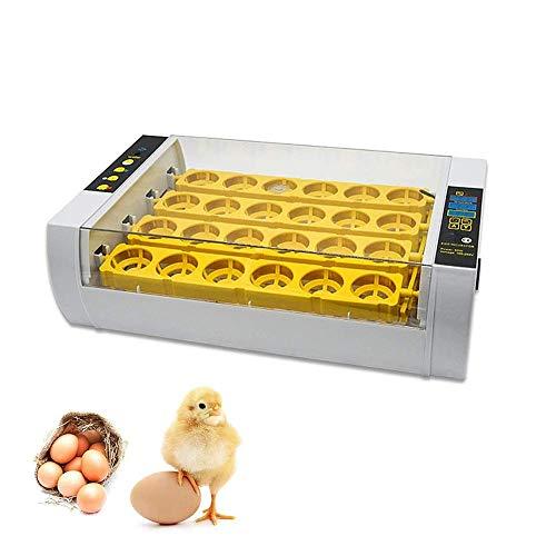DXX-HR Incubadoras de Huevo automática Mini Digital 24 Huevos, Aves de Corral Hatcher Herramienta for pájaro del Pato Huevo de gallina, Humedad Control de Temperatura