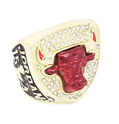 GUOYU 1993 NBA Basketball Professional League, Bulls NBA Campeonato Anillo Fanáticos Conmemorativos (10#)
