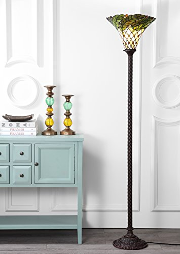 """Botanical Style 71"""" Torchiere LED Floor Lamp"""