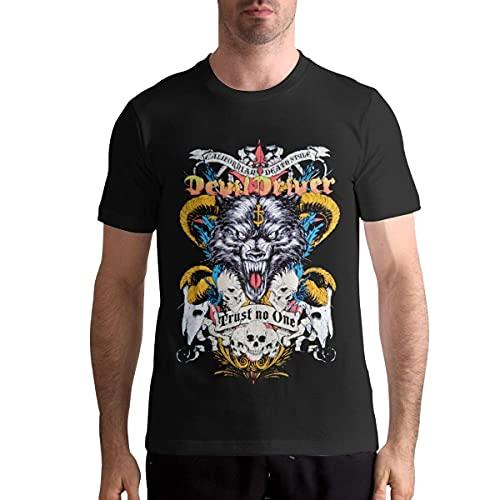 QQIAEJIA DevilDriver Shirt Men's T Shirt Fashion Casual O Neck Tops Short Sleeve Cotton Tees Black