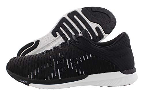 ASICS T835N Men's FuzeX Rush Adapt Running Shoe, Black/White/Dark Grey - 13