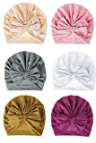 CBOO Gorros Bebé Sombrero Turbante para Bebé Recien Nacido Niña Infantil, Recién Nacido Sombrero Bowknot Cabeza Accesorio Pelo niña (F)