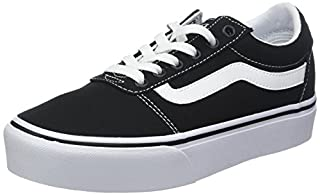 Vans Ward Platform Canvas Scarpe da Ginnastica Basse Donna, Tela/Tessuto, Nero (Canvas) Black/White 187), 36 EU (3.5 UK) (B07BN1ZLKK) | Amazon price tracker / tracking, Amazon price history charts, Amazon price watches, Amazon price drop alerts