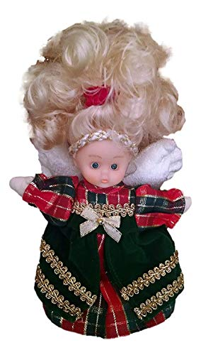 Bean Angel Collectibles Christmas Love Doll 9 Inch Green Dress