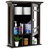 Best Choice Products Home Bathroom Vanity Mirror Wall Storage Cabinet, Espresso