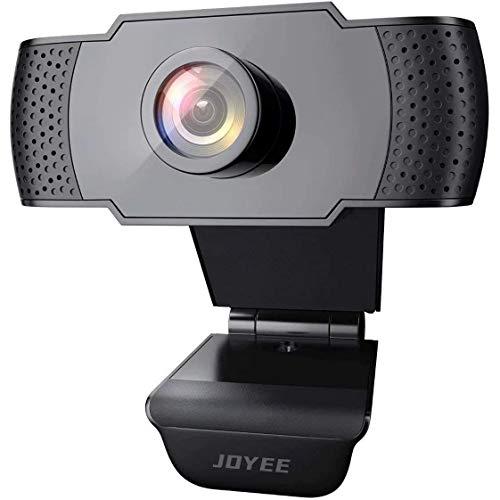 Webcam con Microfono, 1080p Full HD Webcam per Videochiamate, Studio, Conferenza, Registrazione, Gioca a Giochi e Lavoro a Casa, Compatibile con Windows, Mac e Android, Plug and Play