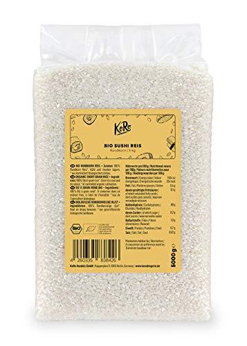 KoRo - Bio Sushi Reis 5 kg - Vorteilspack Rundkornreis aus Italien aus 100 % biologischer Anbau