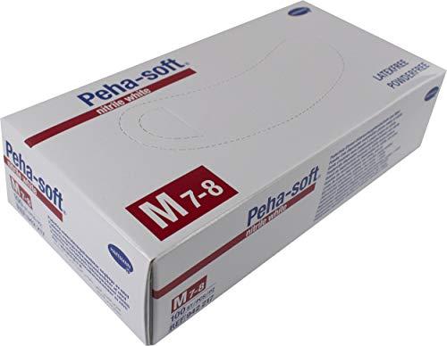 Hartmann Handschuh Nitril Peha-Soft 100 U Größe M, Weiß