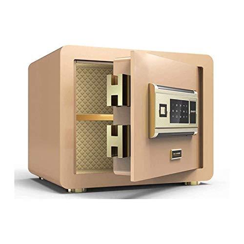 DJDLLZY Caja de Seguridad de Seguridad, Cajas Fuertes Caja Fuerte Huella Dactilar Caja de Seguridad de Alta Seguridad Acer Steel Vault Anti-Robo ignífugo e Impermeable Caja de Seguridad.