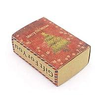 HCGS8.4 *5.8*3cm ギフト用ギフト用ボックス リボンプリントギフトボックスdiy手作りの愛の結婚式の好意ギフトソープボックス 50個 ピック6としてボックス