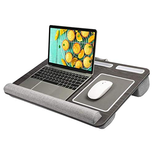 LYLSXY Tables,Portable Lap Laptop Desk, Portable Laptop Desk Tray with Cushion Mouse Pad and Wrist Rest Right Left Handed Design Fits up to 17 inch Laptop Tablet Work from Home