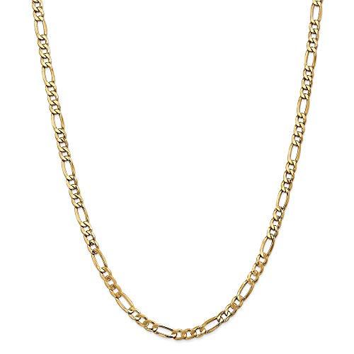 Pulsera de oro de 14 quilates, 5,75 mm, semisólida, para mujer, 23 cm