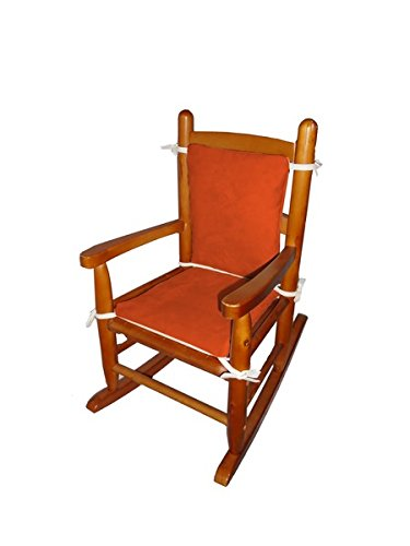 Baby Doll Bedding Suede Junior Rocking Chair Cushion, Pumpkin