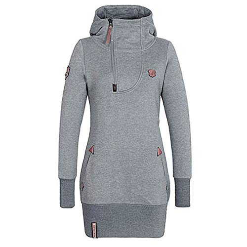 TOPKEAL Taschenreißverschluss Hoodie Lange Ärmel Pullover Damen Herbst Winter Kapuzenpullover Sweatshirt Winterpullover Jacke Mantel Tops Mode 2019