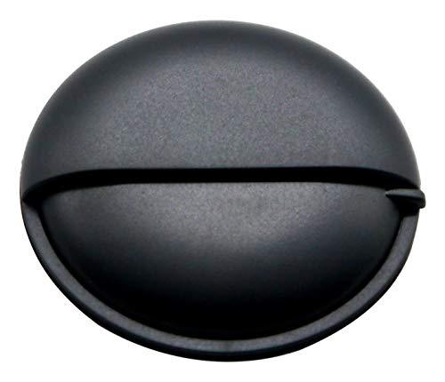PuTwo Pill Box zakformaat voor reizen dag en nacht ronde metalen aluminium Mini Zwart