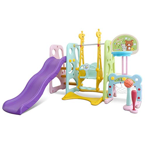 Vehpro 6 in 1 Climber Slide Playset Baby Swing for Age 3-5 Boy&Girls, Kids Amusement Park Entertainment Toy Equipment for Backyard and Indoor Outdoor