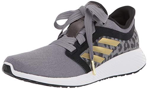 adidas Women's Edge Lux 3 Running Shoe, Grey/Gold Metallic/White, 8.5