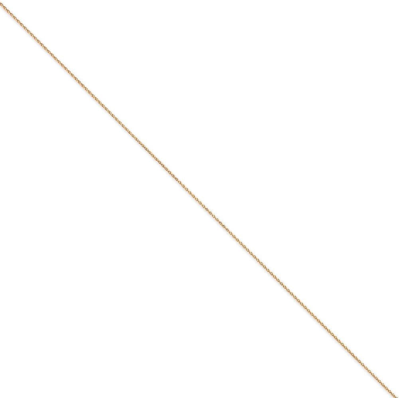 14k pink gold 1.2mm Spiga 7inch bracelet