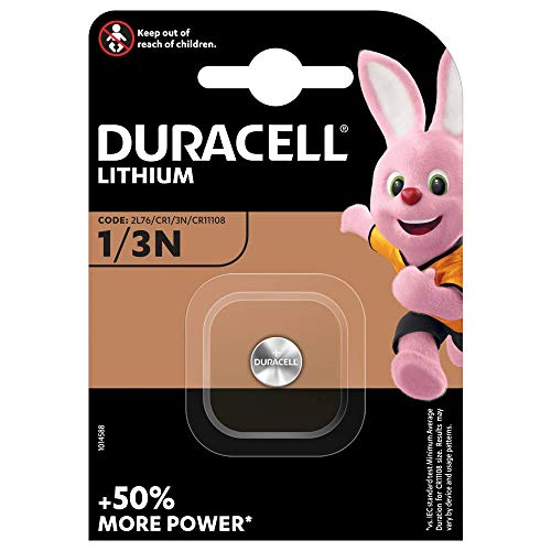 Duracell CR11108 DL1/3N Photo Lithium Batterie CR1/2L76 Silber