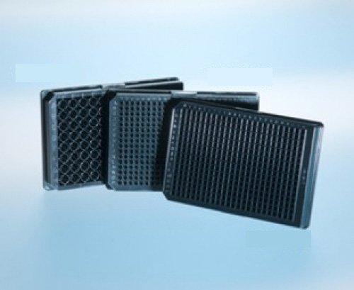 Greiner Bio-One 781900 Black Polystyrene Flat Bottom Non-Binding Microplate, 384 Well (Pack of 40)