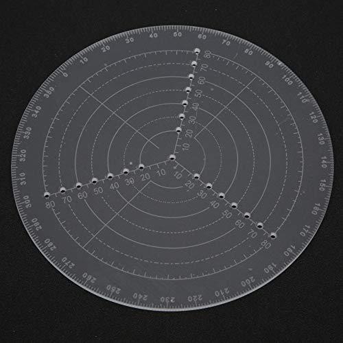 Brújula de buscador de centro redondo, calibre circular de 8 pulgadas, regla de centrado de torneado para carpintería, círculos de dibujo transparentes, diámetro para tornos de madera