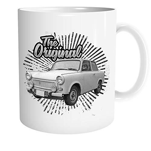 Uglyshirt89 Trabant Tasse | Kaffeetasse Teetasse Geschenk DDR Nostalgie Ossi 600 601 Kübel Trabi Oldtimer | M3