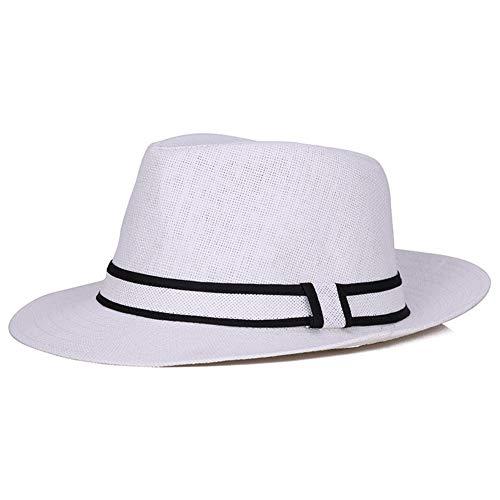 Hui Ni Jazz hoed lente en zomer verfrissende zonnescherm platte hoed 56-58cm Kleur: wit