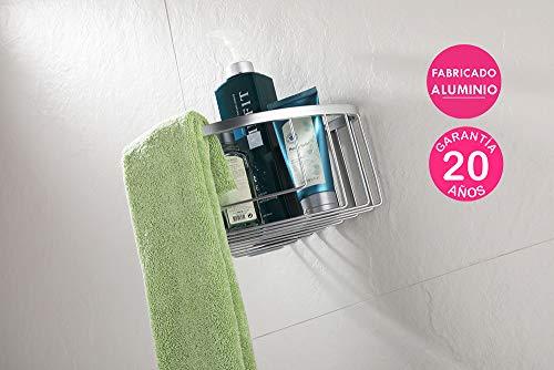 Kibath L133884 Douchemand en badkuip, driehoekig, voor hoeken, gemaakt Ci. Roestvrij, kleur aluminium.