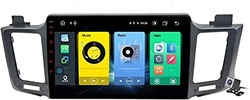 LYHY Navigatore GPS per Auto con autoradio Android 10 AutoRadio 2 DIN Compatibile con Toyota RAV4 2013-2018 Supporto per Carplay Android Auto/Multimedia FM RDS DSP/Volante di Controllo/Chiamate in v