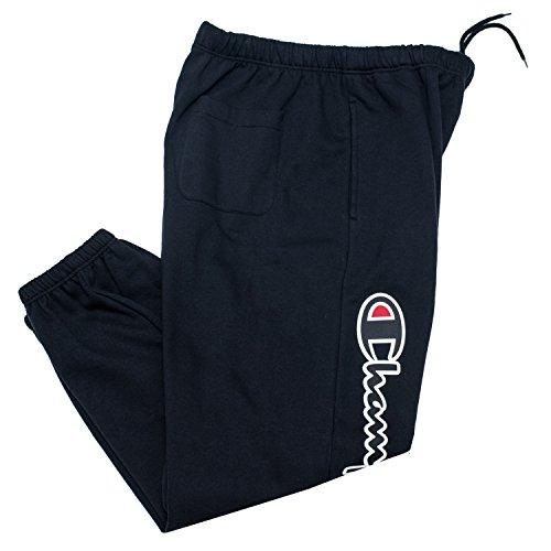 Champion Sweatpants for Men Big and Tall Cotton Fleece Jogger Sweatpants Black