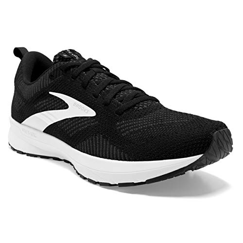 Brooks Revel 5, Zapatillas para Correr Hombre, Black Grey White, 45.5 EU
