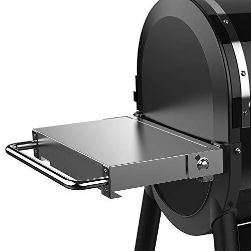 Weber SmokeFire Folding Side Table Klappbarer Beistelltisch, Silber
