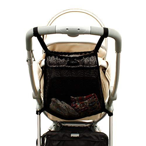 Einkaufstaschen, Universalnetz Einkaufsnetz Für Kinderwagen, Sportwagen Und Buggy, Netztasche Rückseite des Kinderwagens, Aufbewahrungstasche Passend für die meisten Griffe - Schwarz 1 Stück