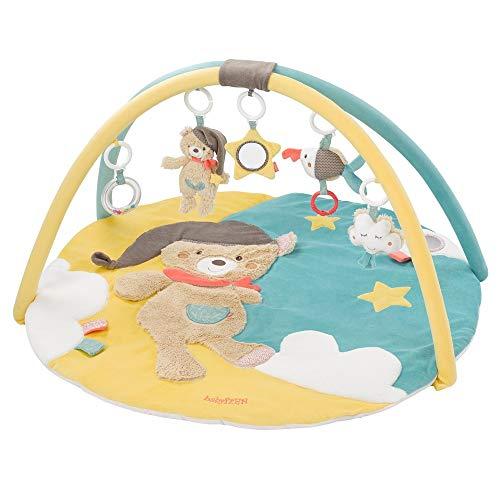 Fehn 060256 3-D-Activity-Decke Bruno – Spielbogen mit 5 abnehmbaren Spielzeugen – Spiel & Spaß von Geburt an – Maße: Ø 85 cm