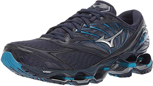 Mizuno Men's Wave Prophecy 8 Running Shoe, Blue Wing Teal-Silver, 12 D US
