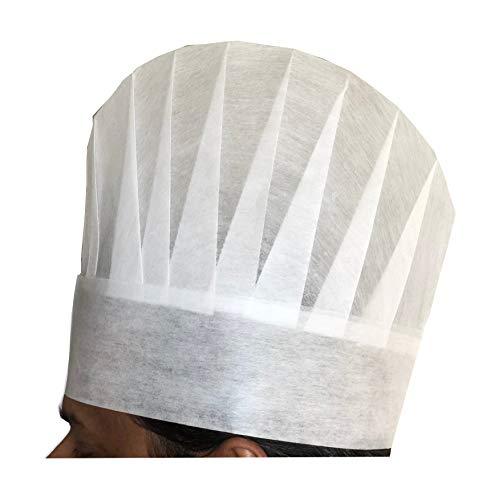 european white chef hat - 3