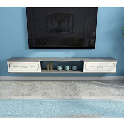 SjYsXm-car cover Soporte para TV montado en la Pared Consola Multimedia Mueble de TV Flotante Soporte de Escritorio Consola de TV Colgante Mesa de TV Estante Consola con Puertas de gabinete