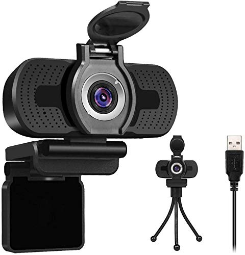 Larmtek 1080p Full Hd Webcam with Webcam Cover,Computer Laptop Pc Mac Desktop Camera for Conference and Video Call,Pro Stream Webcam with Plug and Play Video Calling,Webcam Stand Included
