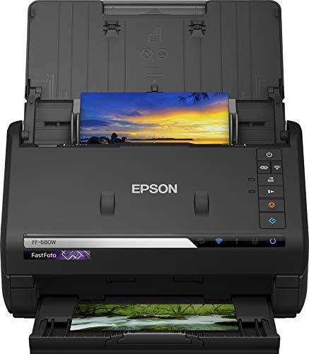 Epson FastFoto FF-680W - Scanners (600 x 600 DPI, 30 bit, 24 bit, 10 bit, 8 bit, 1 bit) Noir