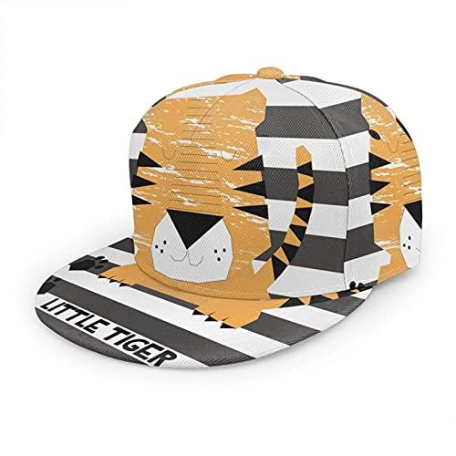 Sombrero de tigre de dibujos animados, gorra de béisbol con cara de gato de África, gatito, pata de gato, vida salvaje joven, ajustable y plano, sombrero de bola para hombres y mujeres ✅