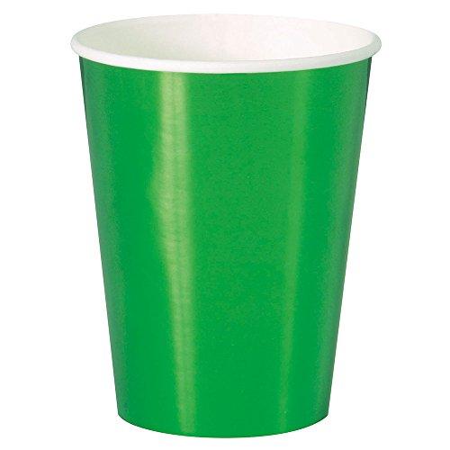 Unique Party 51656 51656-12oz Foil Green Paper Cups, Pack of 8, 12 oz