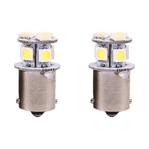 Fydun - Bombilla de luz de freno LED blanca 1156 de 2 piezas, BA15S R5W 5050 8SMD Bombilla de luces LED para coche, señal de respaldo LED, intermitente, bombillas de luz trasera, 12V de repuesto