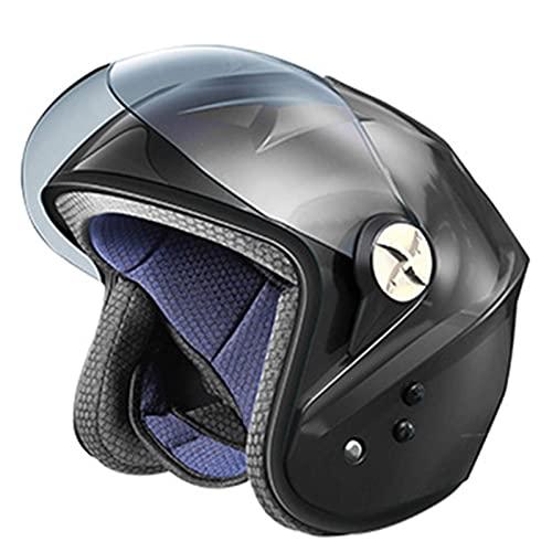 Cascos de Moto de Cara Abierta Smart Bluetooth Casco de Moto de...