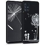 kwmobile Hülle kompatibel mit Samsung Galaxy A51 - Handyhülle - Handy Case Pusteblume Love Weiß Schwarz