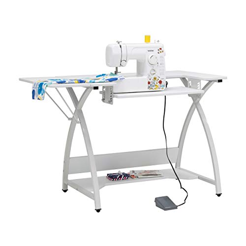 Sew Ready Venus Sewing Table, 45.5' W x 23.5' D x 30' H, White/White