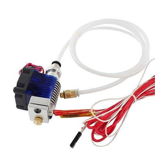YIJIABINGRU - Kit completo para impresora 3D V6 j-head Hot End 12 V para Bowden/RepRap de piezas extrusoras de impresora 3D, accesorios de piezas de 0,4 mm boquilla para 1,75 mm (color: con Dupont)