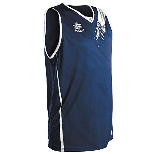 Luanvi Play Camiseta de Tirantes Deportiva de Baloncesto, Unisex Adulto, Azul, XXL